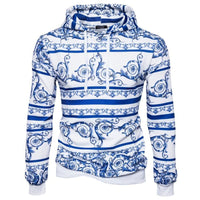 Chinese Style Blue And White Porcelain Hoodie - The Hoodie Store