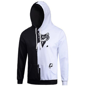 Unisex Black White Cat Hoodie - The Hoodie Store