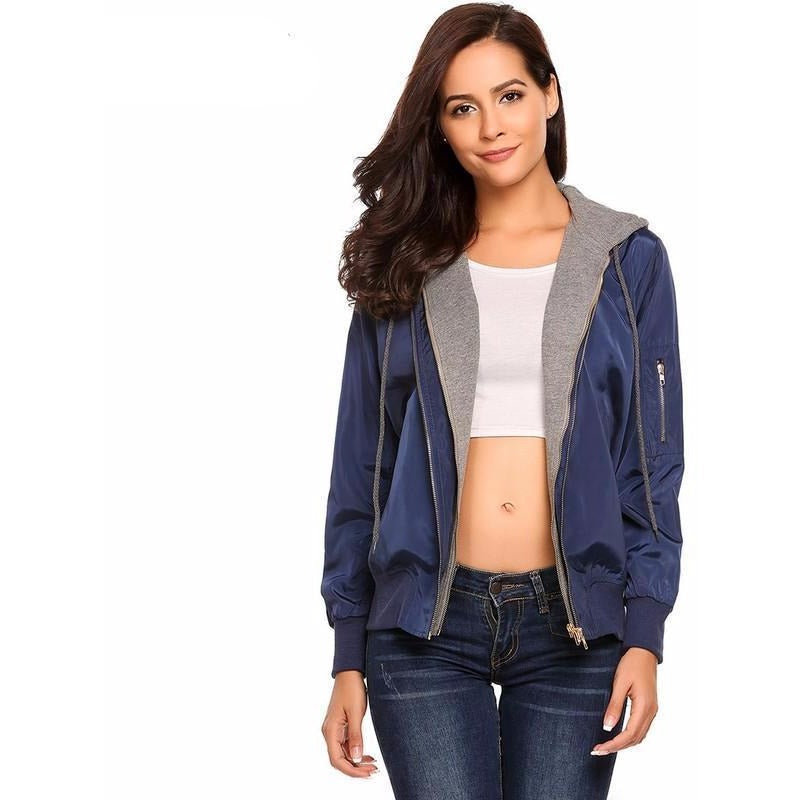 Women's HALIFE Fashion Bomber Jacket - The Hoodie Store