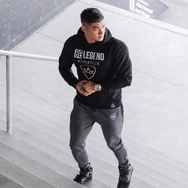 Mens Fashion Gym Fitness Hoodie - The Hoodie Store