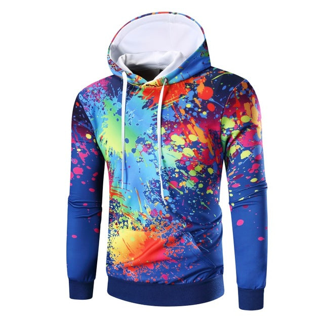 Dark Paint Splash Urban Hoodie - The Hoodie Store
