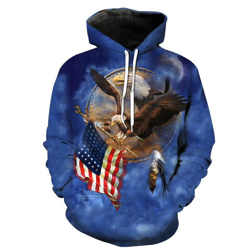 American Eagle Flag Bearer Hoodie - The Hoodie Store