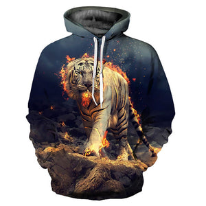 Burning Tiger Hoodie - The Hoodie Store