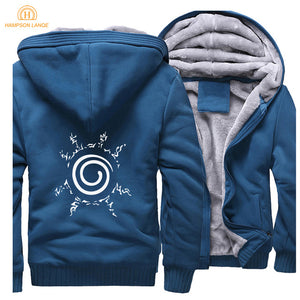 Blue and Light Grey Zipper Hoodie - The Hoodie Store