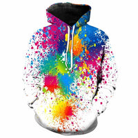 Creative Colourful Paint Art Splash Hoodie - The Hoodie Store