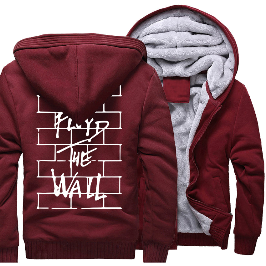 Brick Wall Zipper Hoodie - The Hoodie Store