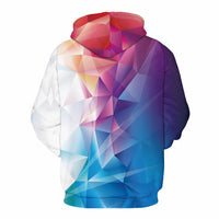 Blue Violet Geometric Art Hoodie - The Hoodie Store