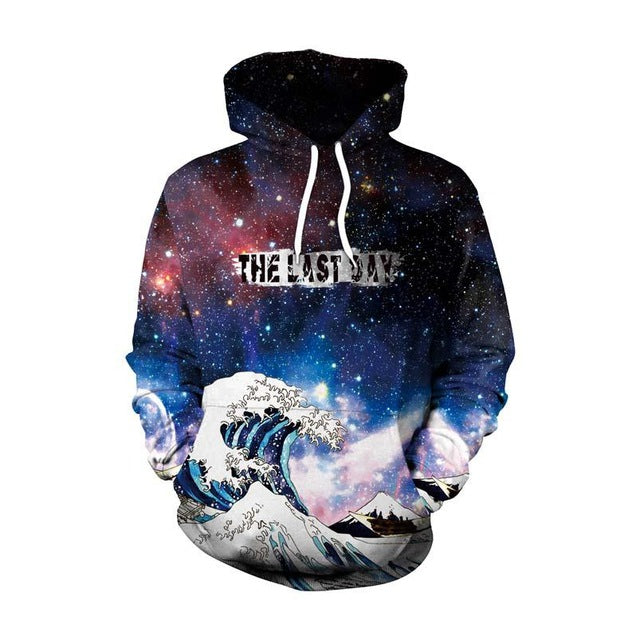Galaxy Wave Classic Art Hoodie - The Hoodie Store