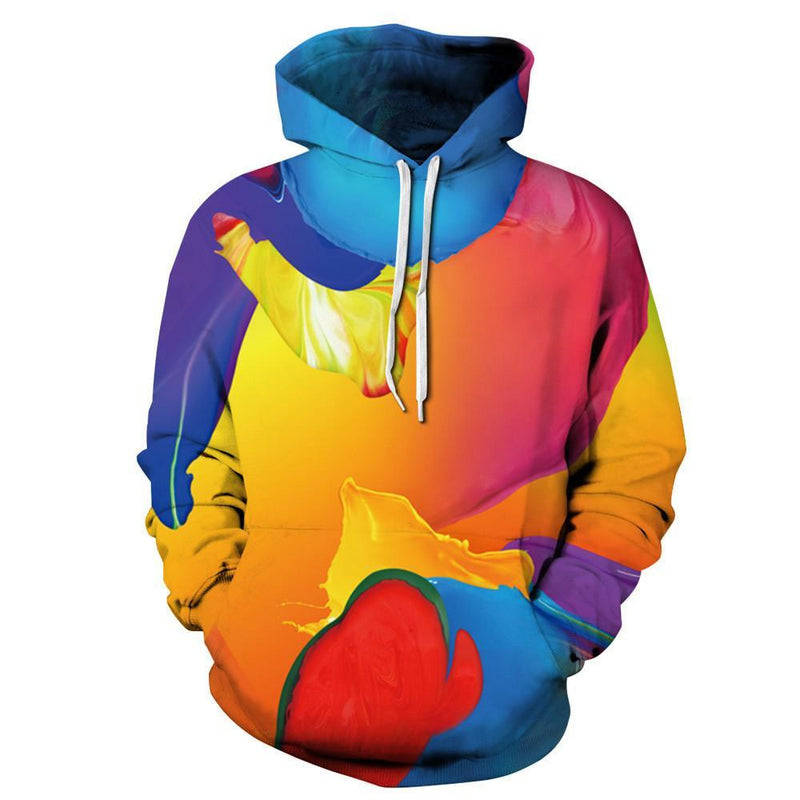 Paint Waves Hoodie - The Hoodie Store