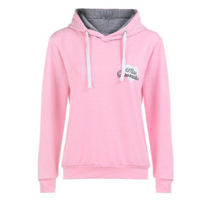 Women's Heart Print Miss Provocateur Hoodie - The Hoodie Store