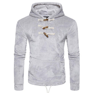 Men's Coral Velvet Button Collar Hoodie - The Hoodie Store