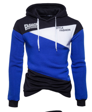 Men's Three Colour Fashion Hoodie - The Hoodie Store