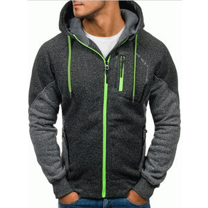 Men's Double Zipper Patchwork Hoodie - The Hoodie Store