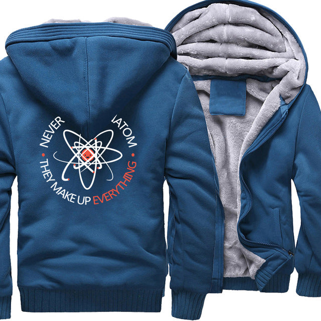 Atom Zipper Fleece Hoodie - The Hoodie Store