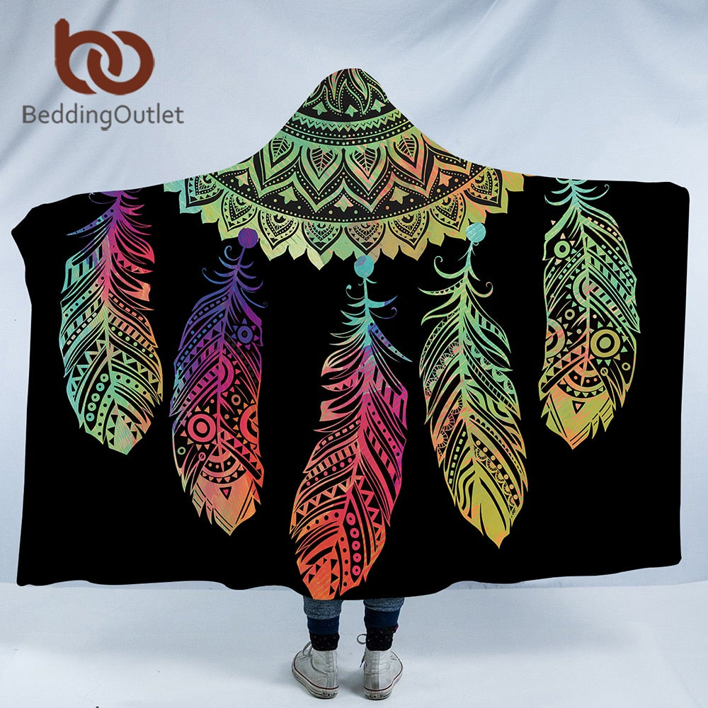 Mandala Dreamcatcher Hooded Blanket - The Hoodie Store
