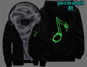 Music Note Zipper Hoodie - The Hoodie Store