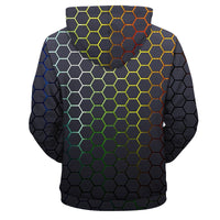 Multicolored Honeycomb Hoodie - The Hoodie Store