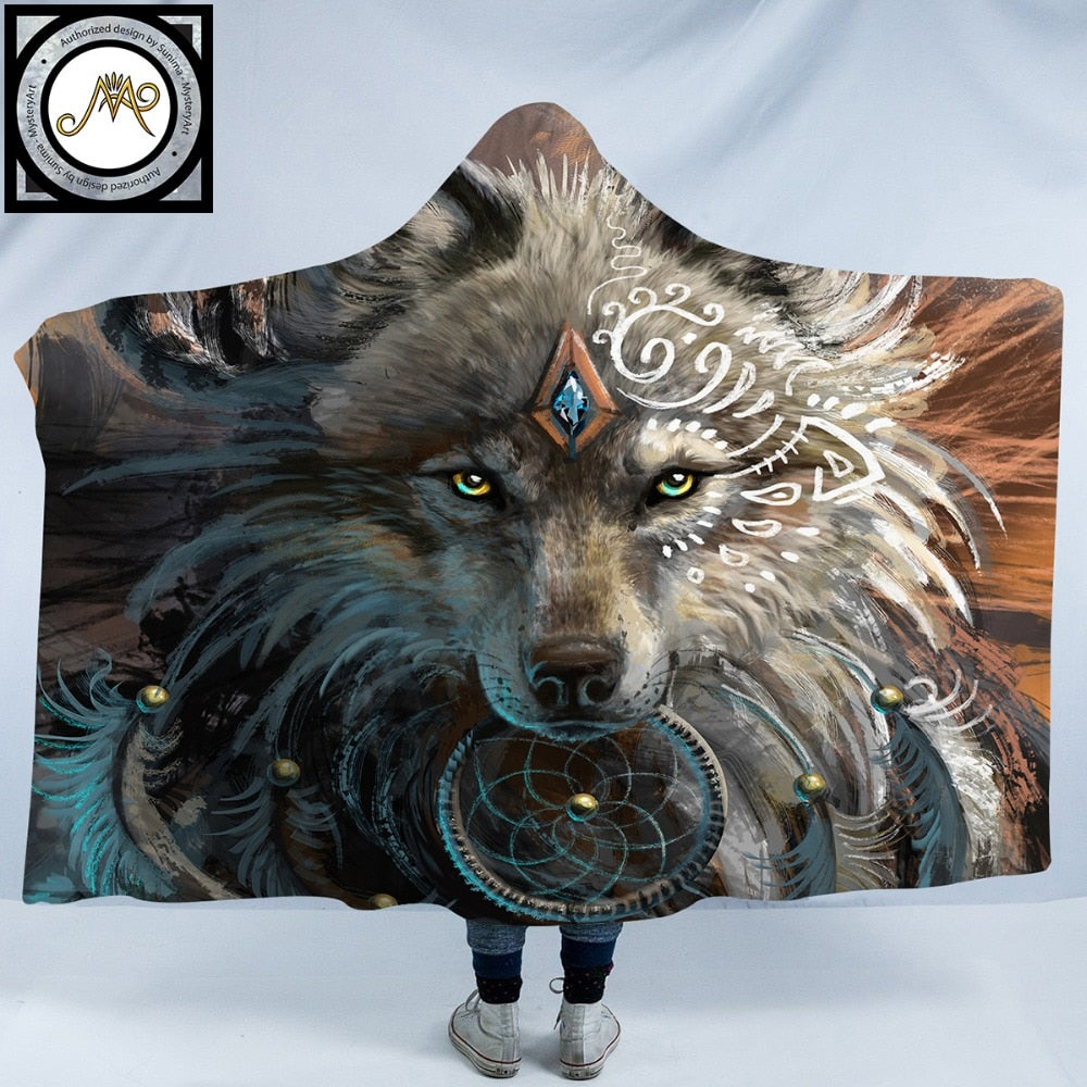 Wolf Warrior Hooded Blanket - The Hoodie Store