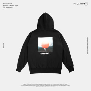 Passio Letter Printed Hoodie - The Hoodie Store