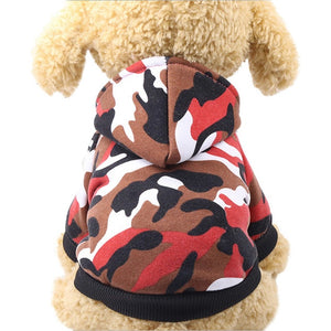 Winter Camouflage Hoodies For Dogs - The Hoodie Store