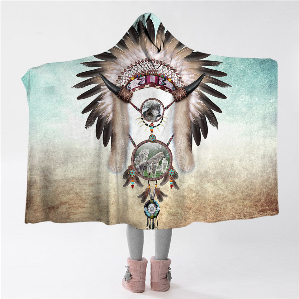Indian Tribal Hooded Blanket - The Hoodie Store