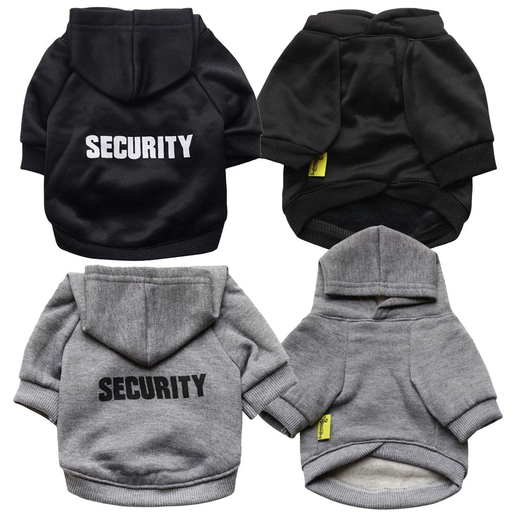 Elegant Security Print Hoodies For Dogs - The Hoodie Store