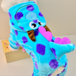 Blue Dinosaur Costume Hoodie For Dog - The Hoodie Store