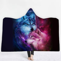 Wolf Hooded Blanket - The Hoodie Store