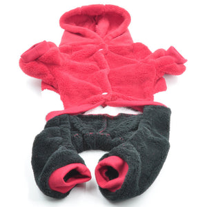 Small Pet Clothing Fleece Costume Winter Hood - The Hoodie Store