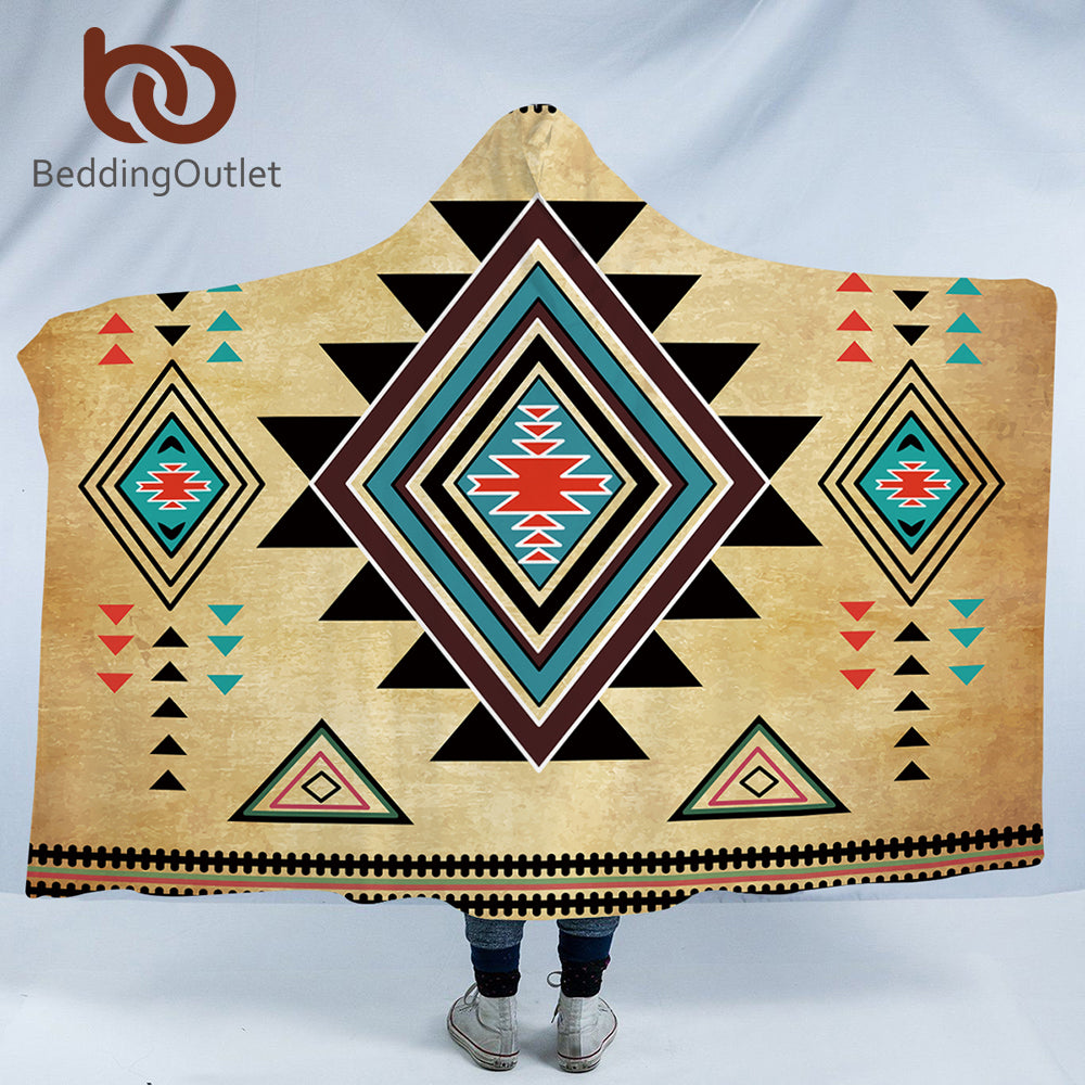Geometric Hooded Blanket - The Hoodie Store