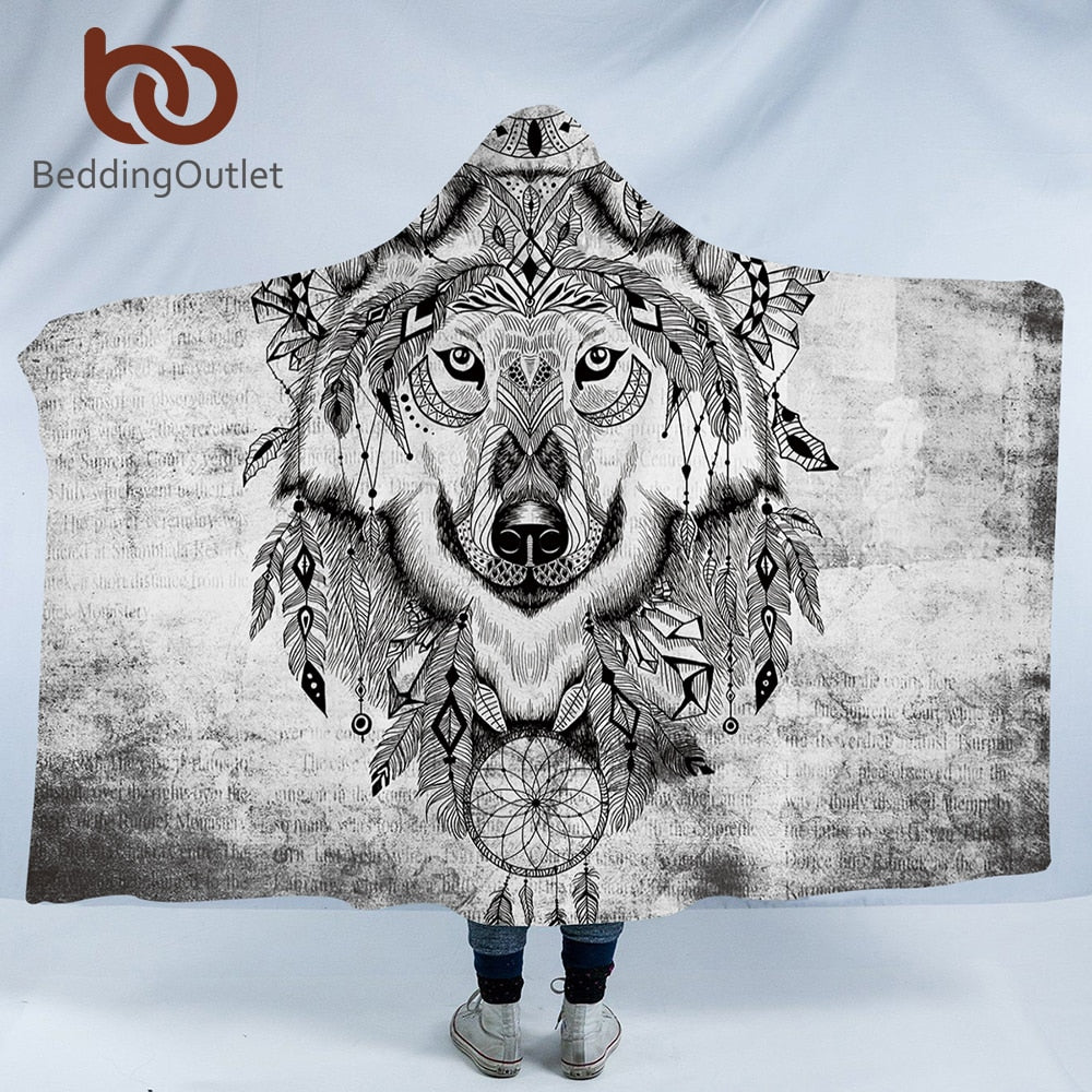 Tribal Animal Hooded Blanket - The Hoodie Store
