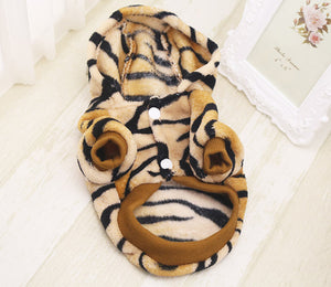 Cute Tiger Costume Hoodie For Dogs - The Hoodie Store