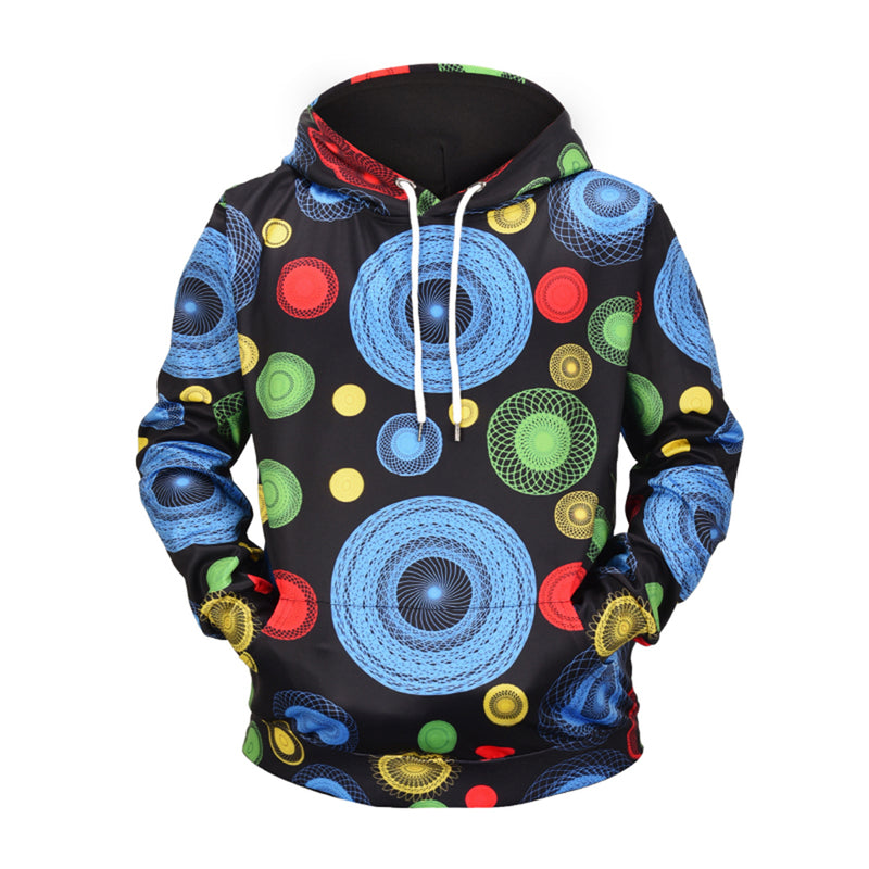 Geometric Arc Pattern 3D Clothing Streetwear Hoodies - The Hoodie Store