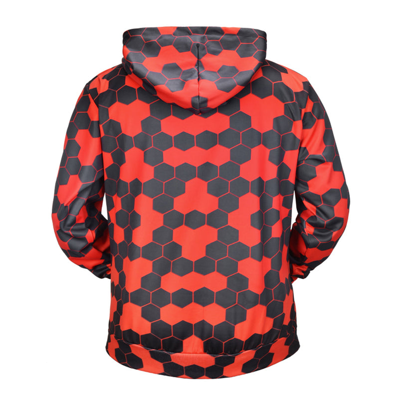 Men/women Creative Black Red Hive Hoodies - The Hoodie Store