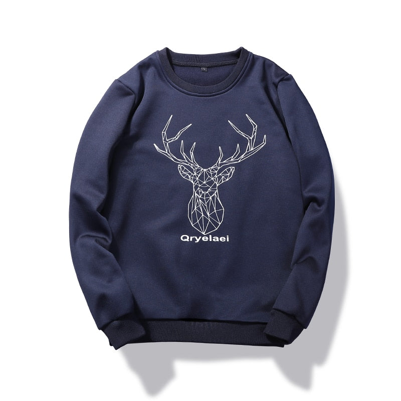 Men's Fashion Deer Patern Sweatshirts - The Hoodie Store