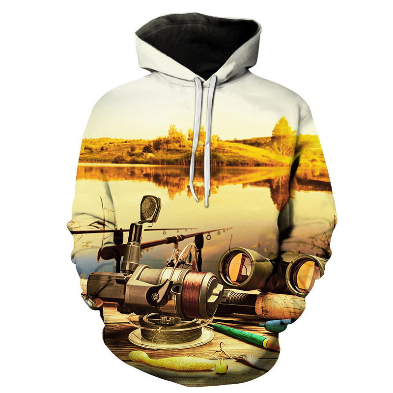 Men/women 3D Hoodies Print Fishing Design - The Hoodie Store