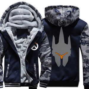 Printed Zipped Down Winter Hoodies - The Hoodie Store