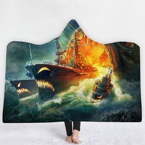 Horror cruise Hooded Blanket - The Hoodie Store