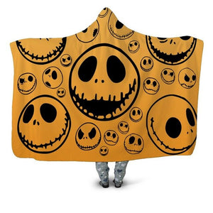 Yellow Skull Hooded Blanket - The Hoodie Store