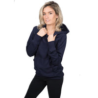 Womens Navy Blue Organic Cotton Hoodie