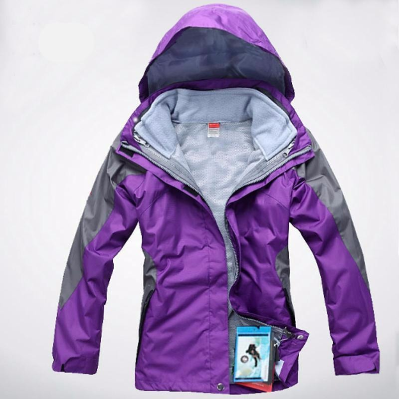 Womens 3 in 1 Waterproof Skiing Trekking Outdoor Jacket - The Hoodie Store