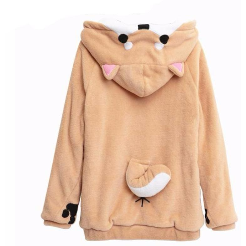 Womens Plush Animal Hoodie - The Hoodie Store