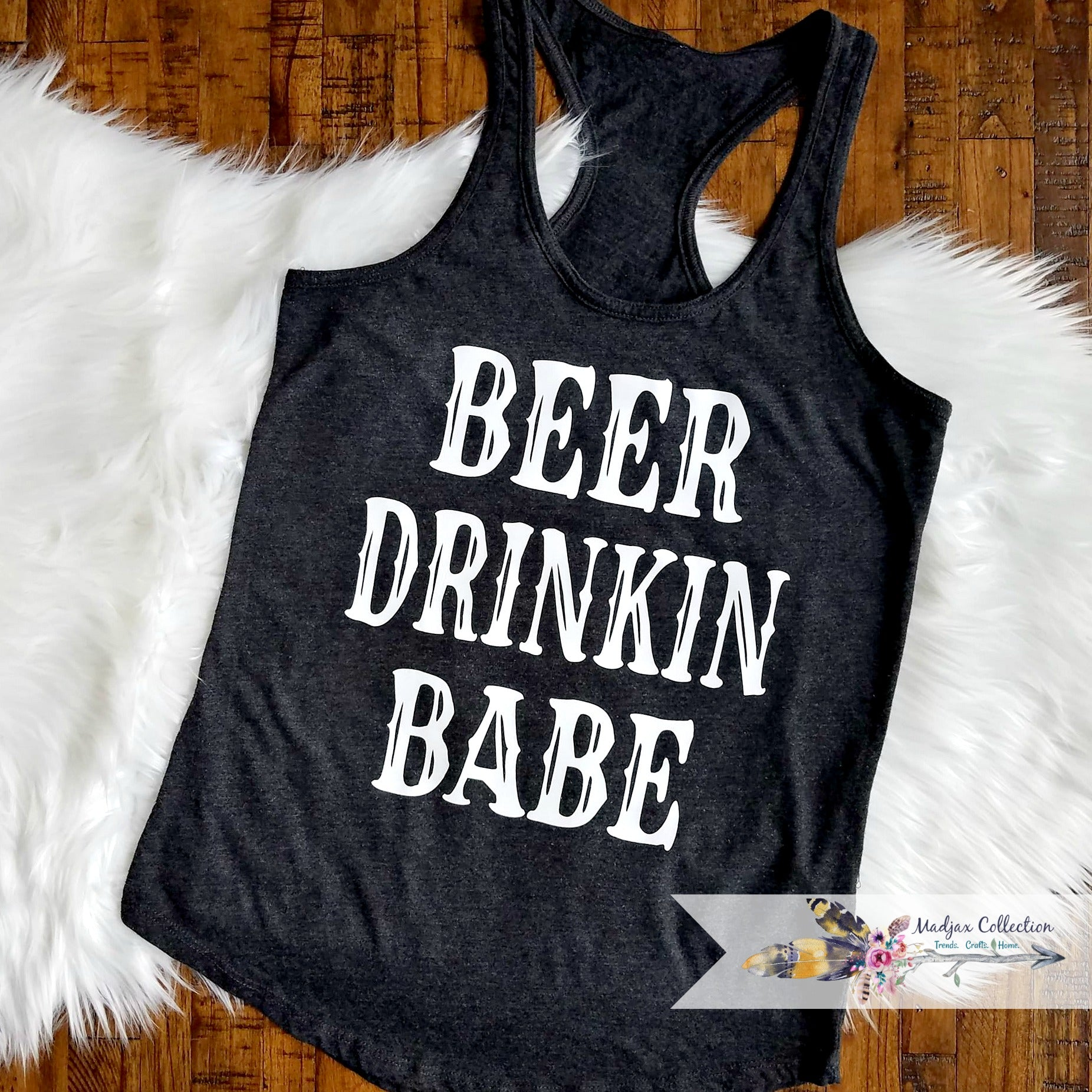 Beer Drinkin Babe Racerback Tank Top
