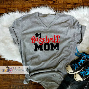 #1 Baseball Mom Shirt. Change Name!