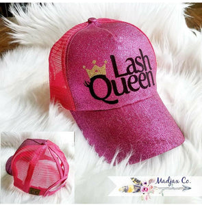 Lash Queen Messy Bun Ponytail Hat
