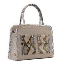Phialebel | Mini Shopping bag natural and beige python