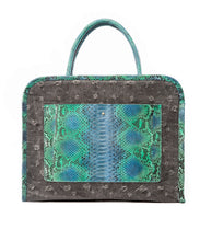 Phialebel | shopping bag black and green python