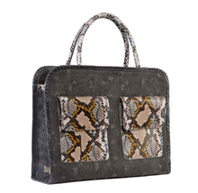 Phialebel | shopping bag black multicolor python