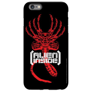"Alien ""Alien Inside"" Black Phone Case"