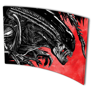 "Alien ""Alien Attack"" Black and Red Metal Print"